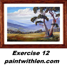 12 paint a gum tree