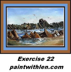 22 paint rocks and ocean