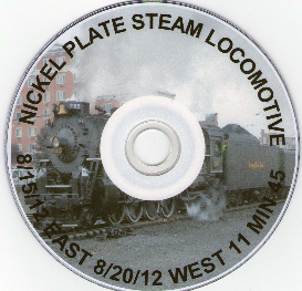 Nickel Plate Steam Locomotive East and West Slope