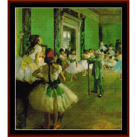 dance class 1874 - degas cross stitch pattern by cross stitch collectibles