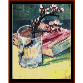 blossoming alond branch - van gogh cross stitch pattern by cross stitch collectibles