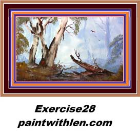28 paint australian ghost gums