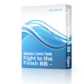 fight to the finish bb - opentype