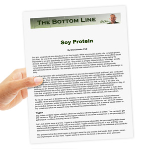 Soy Protein - The Bottom Line | Documents and Forms | Research Papers