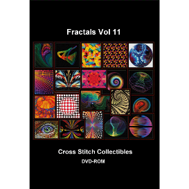 fractal vol 11 dvd collection - cross stitch pattern by cross stitch collectibles