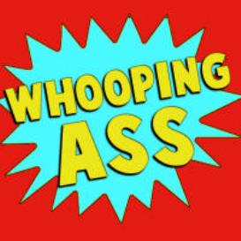 whooping ass
