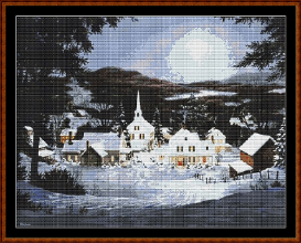 counted cross stitch chart ( pattern ) - a winter's day