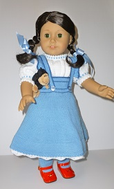 Doll Knitting Pattern - SB001-Dorothy from Wizard of Oz