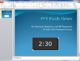 ppt flash timer