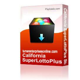 California SuperLottoPlus Stat Sheet | Audio Books | Business and Money