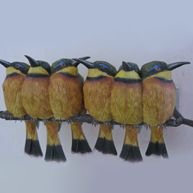 paper model: The Bee-eaters