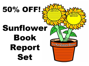 50% Off Sunflower Book Report Project | Documents and Forms | Templates