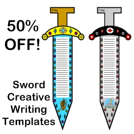 50% Off Sword Creative Writing Templates