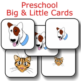 preschool big & little cards