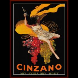 cinzano - vintage poster cross stitch pattern by cross stitch collectibles