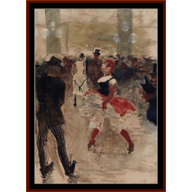 a-l-elysee montmarte - lautrec cross stitch pattern by cross stitch collectibles