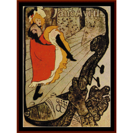 jane avril, 1893 - lautrec cross stitch pattern by cross stitch collectibles