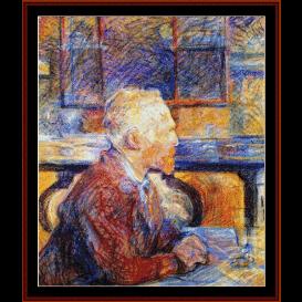 portrait of vincent van gogh - lautrec cross stitch pattern by cross stitch collectibles