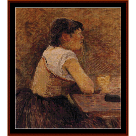 absinthe drinker - lautrec cross stitch pattern by cross stitch collectibles