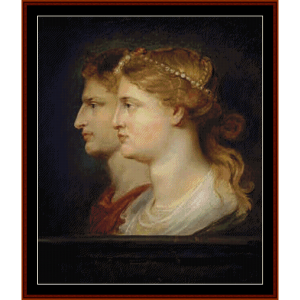 Agrippa and Germanicus - Rubens cross stitch pattern by Cross Stitch Collectibles | Crafting | Cross-Stitch | Other