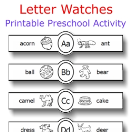 letter watches alphabet actvity