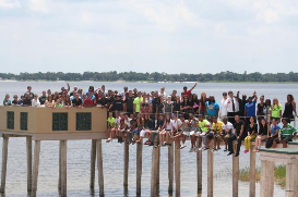 2013 class photo on the dock