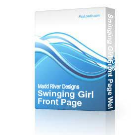 swinging girl front page web template