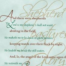 download bible christmas card to print: luke 2 ps 23