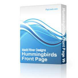 Hummingbirds Front Page Web Template