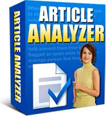 Article Analyzer Analyse your content for keyword optimisation | Software | Internet