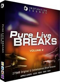 Pure Live Breaks Vol 2 ACID/Apple Loops/REX2/WAV | Music | Soundbanks