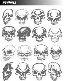skulls 2 vector pack