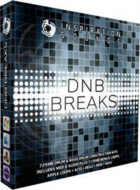 DNB Breaks - Drum & Bass Drum Construction Kits ACID/WAV/Apple Loops/REX2/Midi | Music | Soundbanks