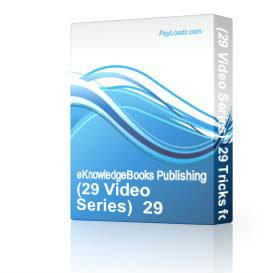 (29 Video Series)  29 Tricks for Quick and Instant Website Design   Software   Audio and Video