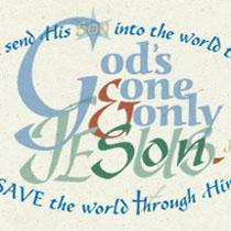 abiGRAPHICS Scripture Christmas card John 3 | Other Files | Photography and Images