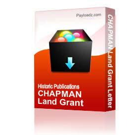 CHAPMAN Land Grant Letter | Other Files | Documents and Forms
