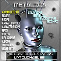 Metalica for Poser - Mols Cyborg Untouchables | Software | Add-Ons and Plug-ins
