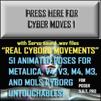 Cyber Moves 1 - for Poser | Software | Add-Ons and Plug-ins