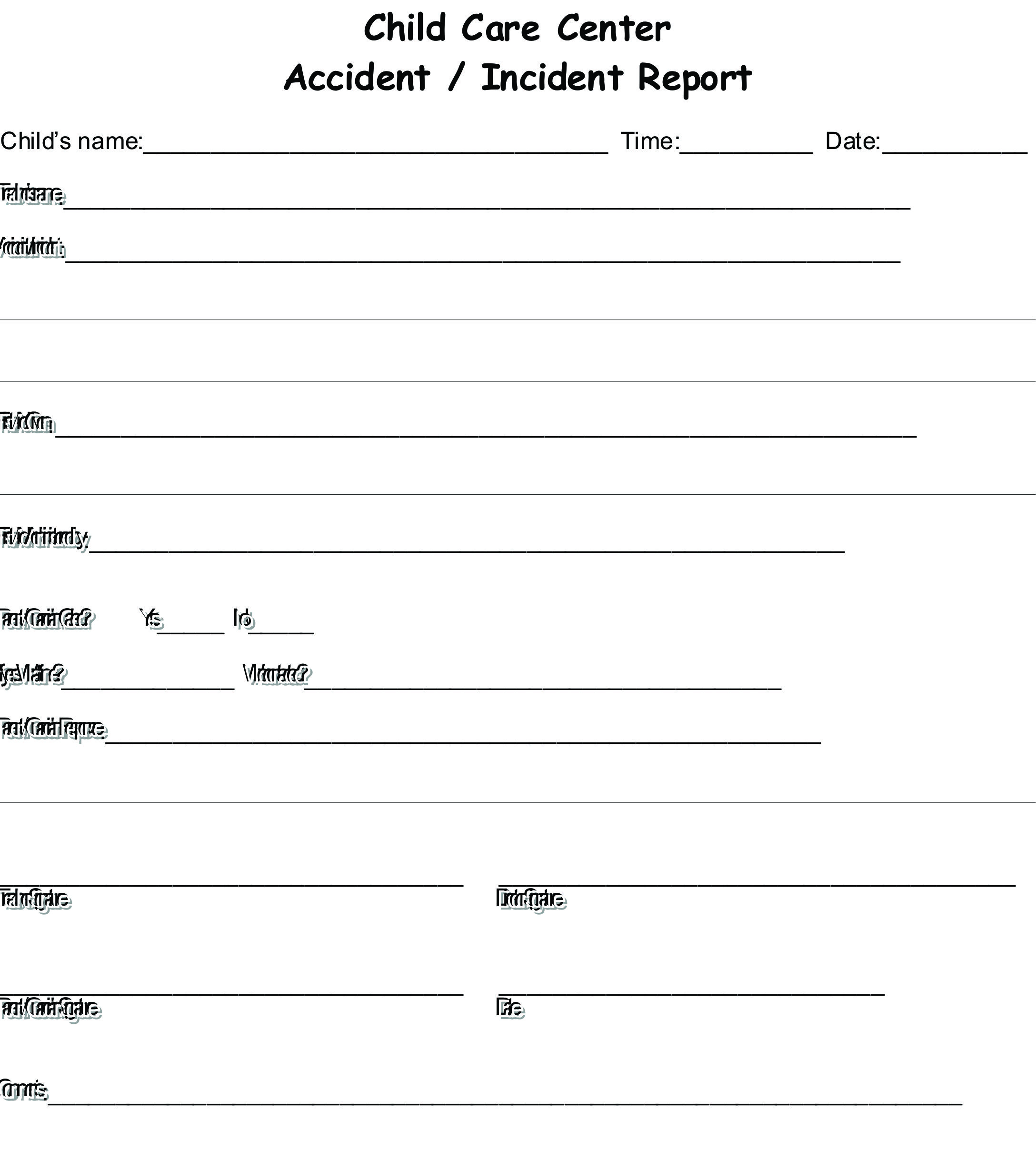 bellbird incident  injury  trauma  u0026 illness record