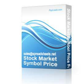 Stock Market Symbol Price Fetcher Spreadsheet | Audio Books | Business and Money
