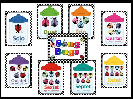 song bugs (ensemble groupings) bulletin board kit