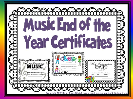 music certificates for end of the year awards