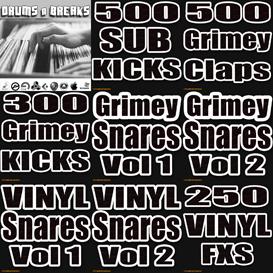 grimey drums pack hip hop dubstep logic mpc fl studio electro tech vinyl loops