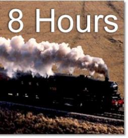 train ride - 8 hours long