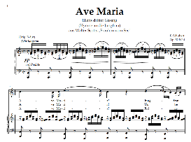 Ave Maria D.839 (Ellens gesang III), High Voice in C Major, for Soprano, Tenor, Schubert (In german). Digital edition, A4. | eBooks | Sheet Music