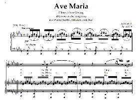 Ave Maria, High Voice  in B Major, Schubert Germ digi | eBooks | Sheet Music