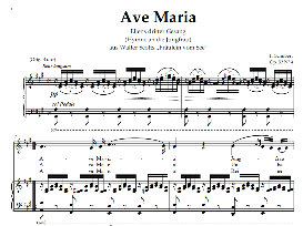 Ave Maria D.839, Medium Voice in A Major, Schubert Germ digi | eBooks | Sheet Music