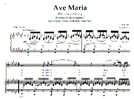 Ave Maria, Low Voice in F Sharp Major. For Contralto/Alto.  Schubert Germ digi | eBooks | Sheet Music