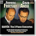 BARTOK Piano Concertos, Anda, Fricsay, 1959-60, stereo MP3 | Music | Classical