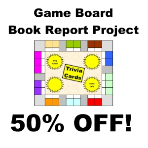 50% off game board book report project
